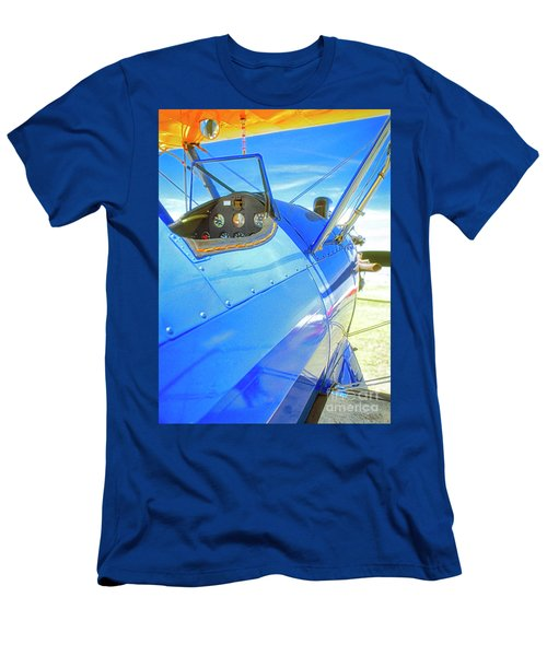 Blue And Yellow Bi Wing  Men's T-Shirt (Athletic Fit)