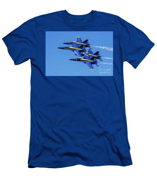 Blue Angels Very Close Formation 1 Men's T-Shirt (Athletic Fit)
