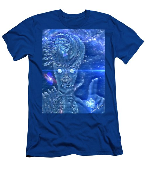 Blue Avian Men's T-Shirt (Slim Fit) by Vennie Kocsis
