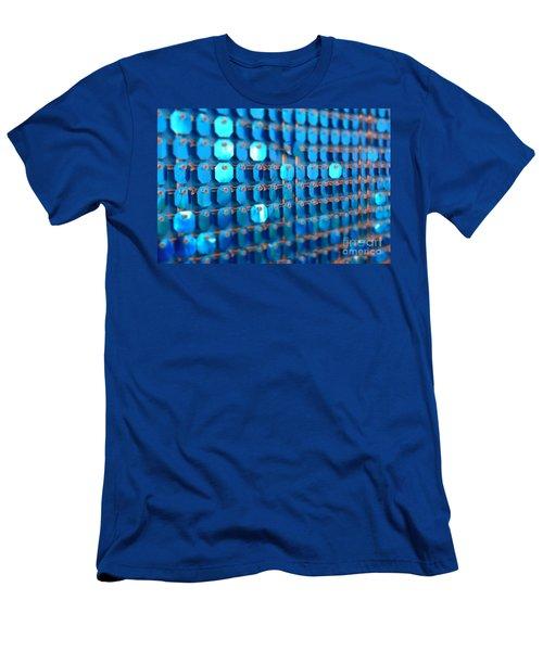 Blue Men's T-Shirt (Slim Fit) by Barbara Bardzik