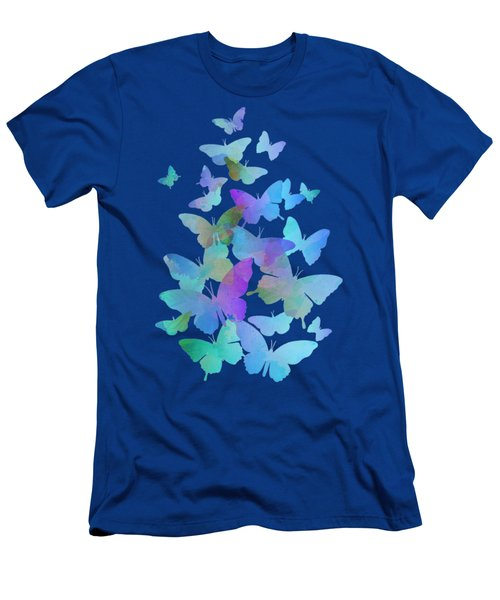 Blue Butterfly Flutter Men's T-Shirt (Athletic Fit)