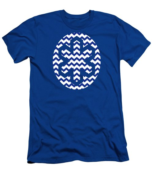 Blue Chevron Pattern Men's T-Shirt (Athletic Fit)