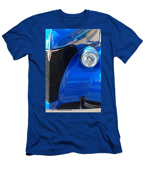 Men's T-Shirt (Athletic Fit) featuring the photograph Blue Chevy by Donna Bentley
