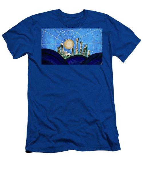 Blue City  Men's T-Shirt (Athletic Fit)