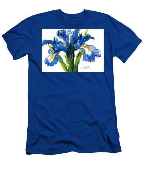 Blue Dutch Iris For Kappa Kappa Gamma Men's T-Shirt (Athletic Fit)