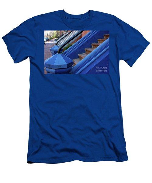 Blue Entry Men's T-Shirt (Slim Fit) by Jim Gillen