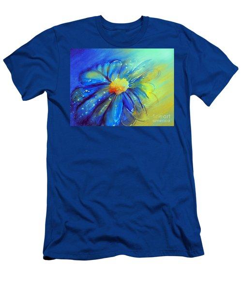 Blue Flower Offering Men's T-Shirt (Slim Fit)