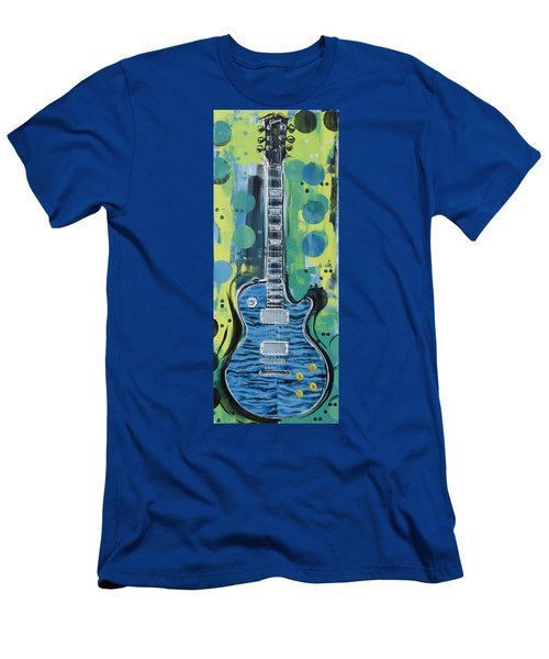 Blue Gibson Guitar Men's T-Shirt (Athletic Fit)