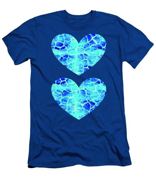 Blue Giraffe Print Men's T-Shirt (Athletic Fit)