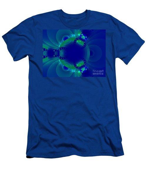 Blue Green Globe Luminant Fractal Men's T-Shirt (Athletic Fit)