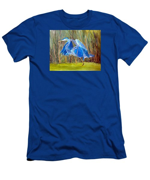 Blue Heron In Viera  Florida Men's T-Shirt (Athletic Fit)