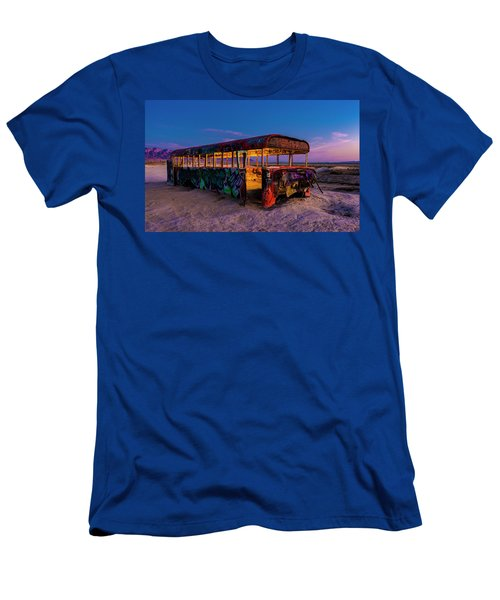 Blue Hour Bus Men's T-Shirt (Athletic Fit)