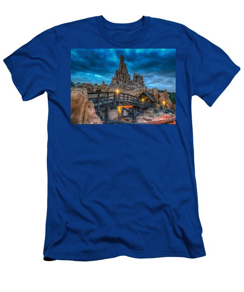 Blue Hour Over Big Thunder Mountain Men's T-Shirt (Athletic Fit)