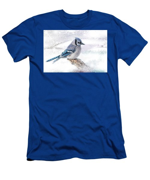 Blue Jay Snow Men's T-Shirt (Athletic Fit)