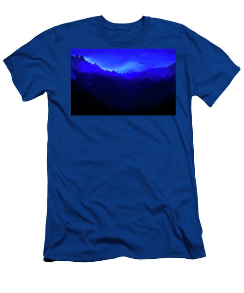 Men's T-Shirt (Athletic Fit) featuring the photograph Blue by John Poon