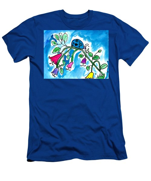 Blue Ladybug Men's T-Shirt (Athletic Fit)