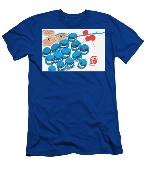 blue Macaroons for golden gal Men's T-Shirt (Athletic Fit)