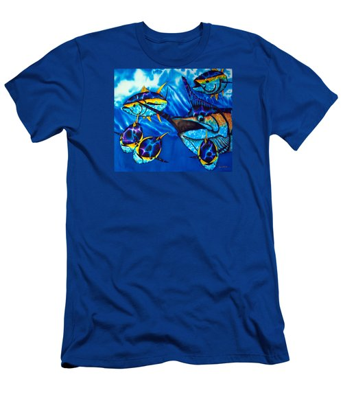 Blue Marlin And Yellowfin Tuna Men's T-Shirt (Athletic Fit)