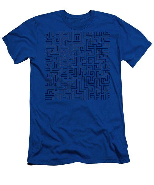 Blue Maze Men's T-Shirt (Athletic Fit)