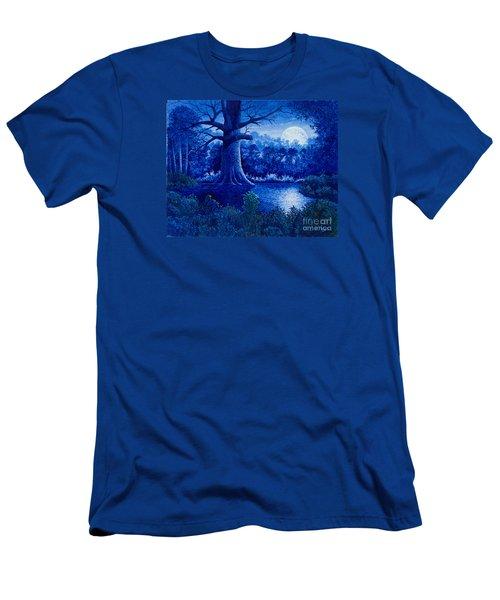Blue Moon Men's T-Shirt (Slim Fit) by Michael Frank