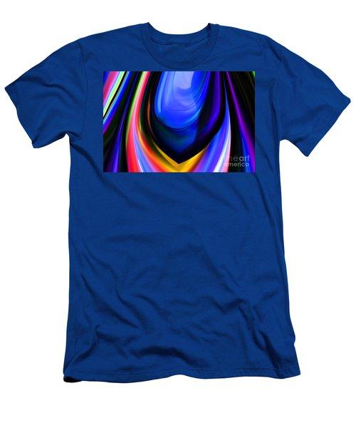 Blue Orb Men's T-Shirt (Slim Fit) by Elaine Hunter