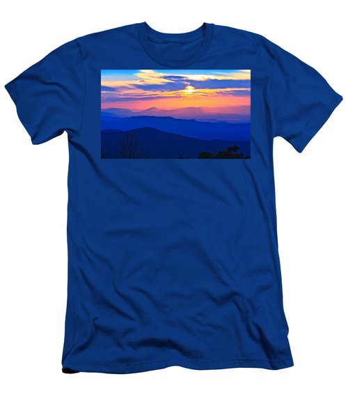 Blue Ridge Parkway Sunset, Va Men's T-Shirt (Slim Fit) by The American Shutterbug Society