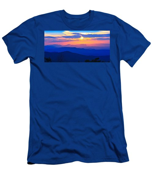 Blue Ridge Parkway Sunset, Va Men's T-Shirt (Athletic Fit)