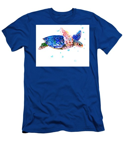 Blue Sea Turtle Men's T-Shirt (Athletic Fit)