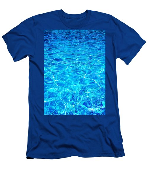 Men's T-Shirt (Slim Fit) featuring the photograph Blue Shadow by Ramona Matei