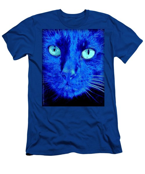 Men's T-Shirt (Slim Fit) featuring the photograph  Blue Shadows by Al Fritz