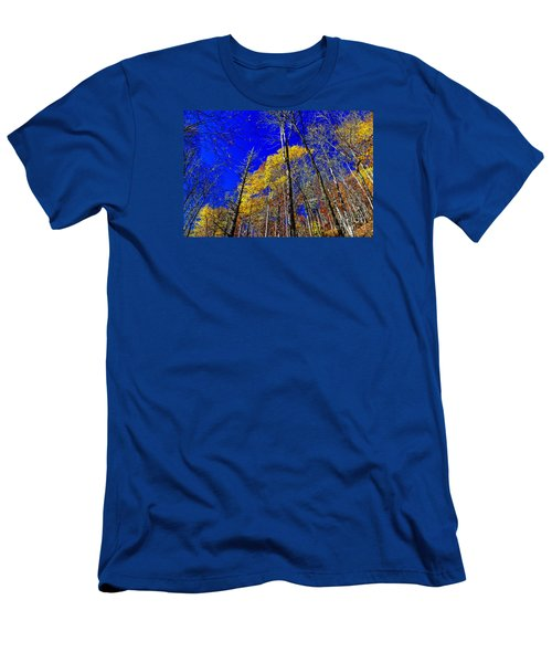 Blue Sky In Fall Men's T-Shirt (Athletic Fit)
