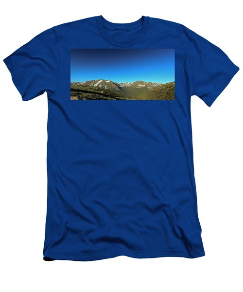 Blue Skys Over The Rockies Men's T-Shirt (Athletic Fit)