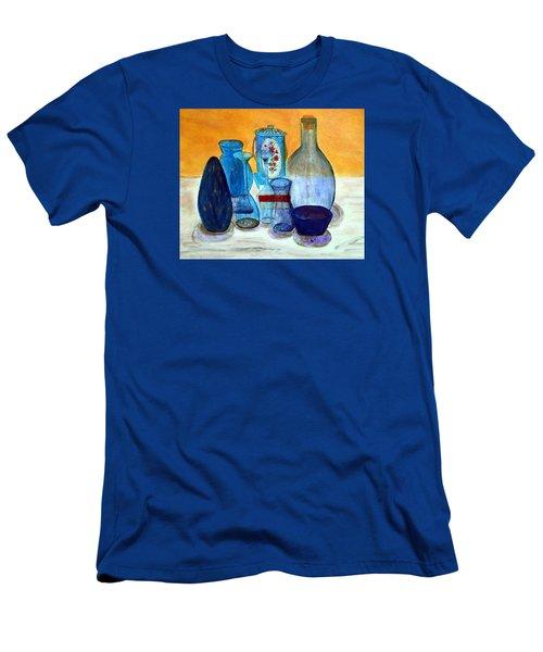 Blue Still Life Men's T-Shirt (Athletic Fit)