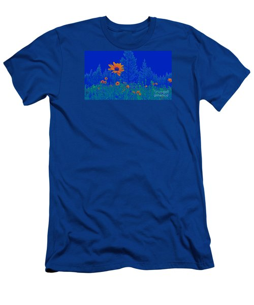 Blue Summer Men's T-Shirt (Slim Fit)