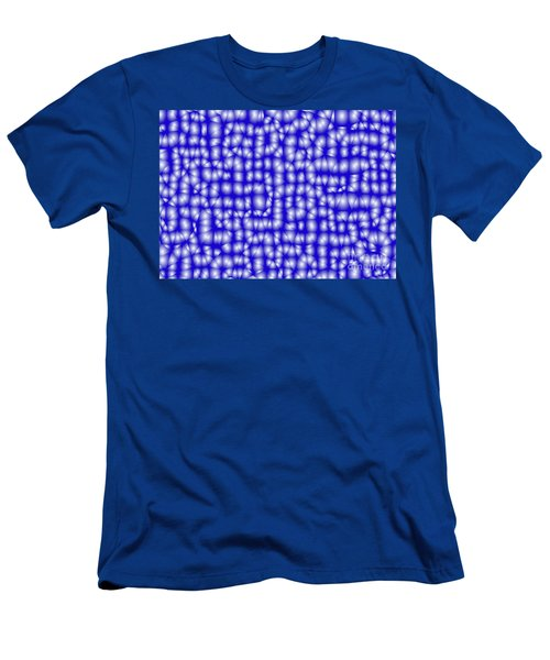 Blue Triangular Pattern - Triangles Mosaic Men's T-Shirt (Athletic Fit)