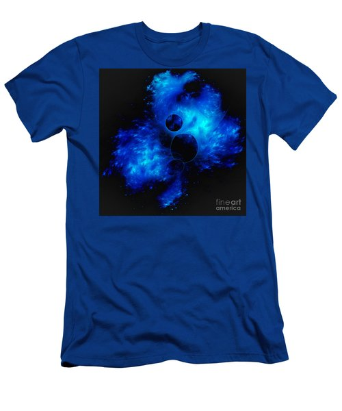 Blue Universe Fractal Men's T-Shirt (Athletic Fit)