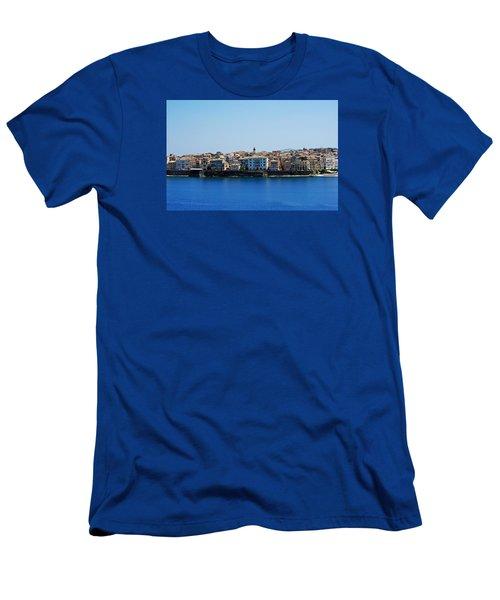 Blue Waters Of Corfu Men's T-Shirt (Slim Fit) by Robert Moss