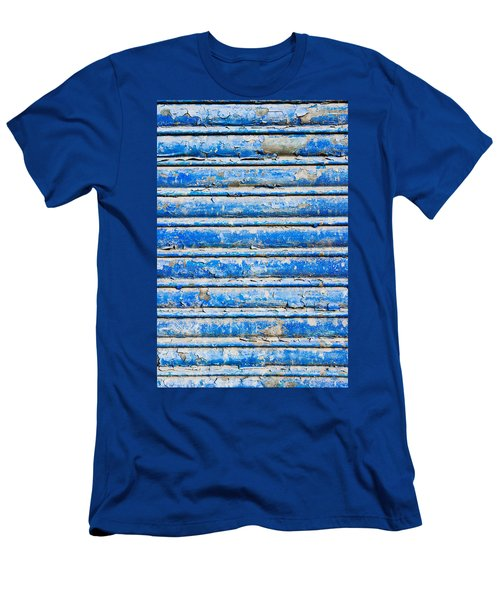 Blue Weathered Metal  Men's T-Shirt (Athletic Fit)