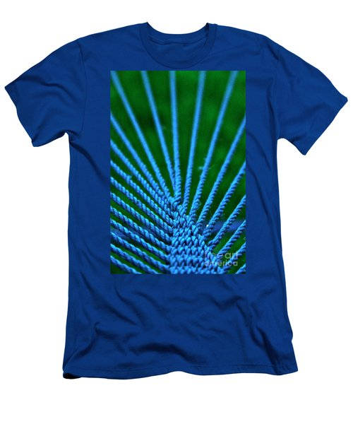 Men's T-Shirt (Slim Fit) featuring the photograph Blue Weave by Xn Tyler