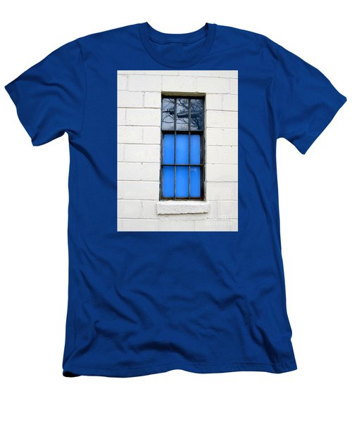 Blue Window Panes Men's T-Shirt (Slim Fit) by Sandra Church