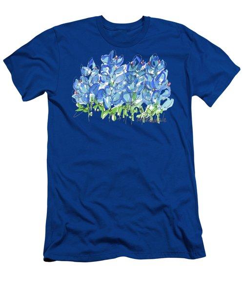 Bluebonnet Dance Watercolor By Kmcelwaine Men's T-Shirt (Athletic Fit)