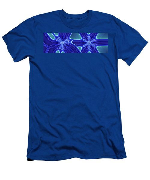 Men's T-Shirt (Slim Fit) featuring the digital art Blued by Ron Bissett