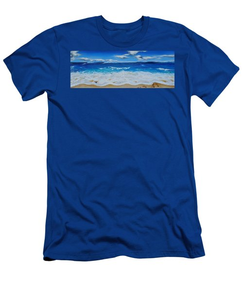 Blues And Foam Men's T-Shirt (Athletic Fit)