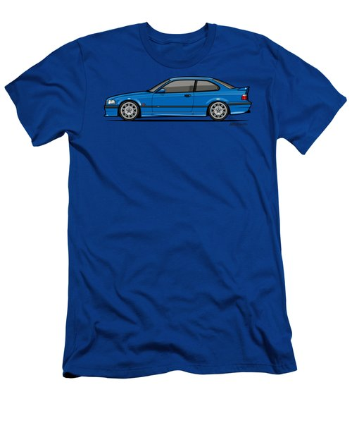Bmw 3 Series E36 M3 Coupe Estoril Blue Men's T-Shirt (Athletic Fit)