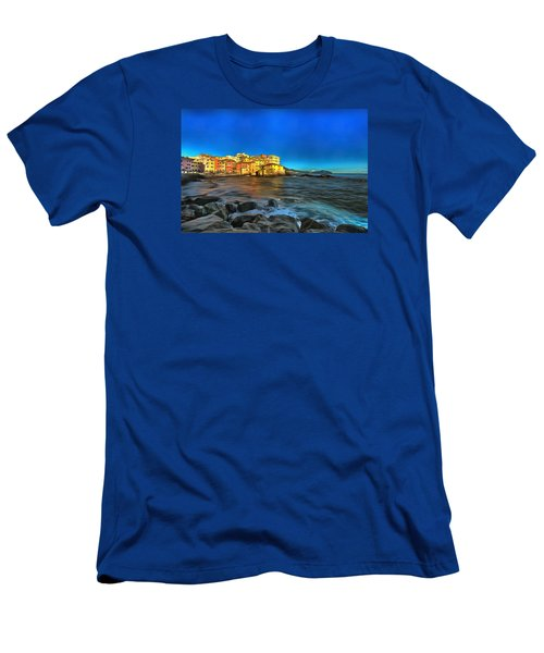 Boccadasse Beach On An Autumn Bright Sunny Day Men's T-Shirt (Athletic Fit)