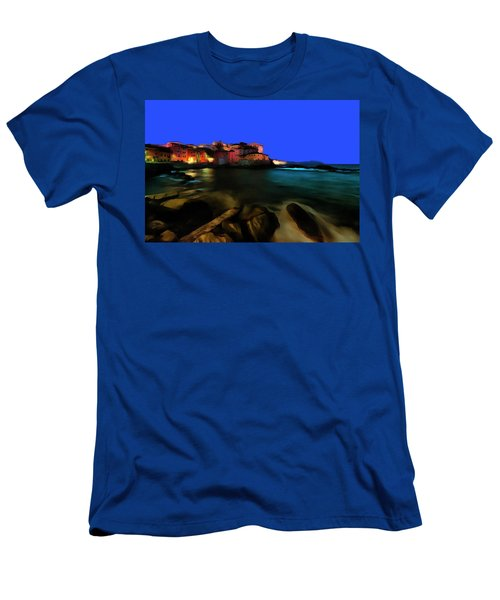 Boccadasse By Night Paint Men's T-Shirt (Athletic Fit)