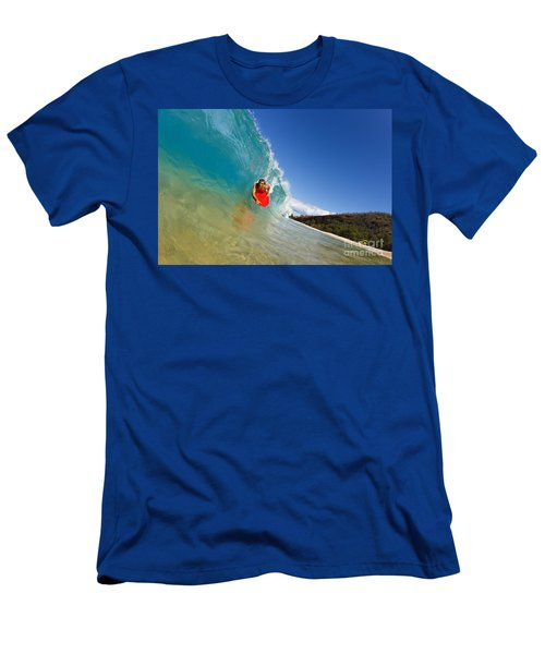 Boogie Boarding At Makena Men's T-Shirt (Athletic Fit)