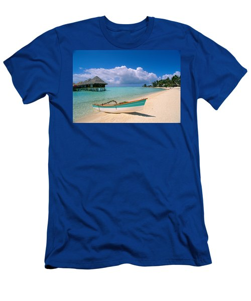 Bora Bora, Hotel Moana Men's T-Shirt (Slim Fit) by Greg Vaughn - Printscapes