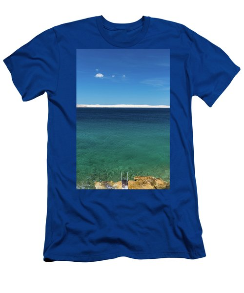Men's T-Shirt (Athletic Fit) featuring the photograph Bora In Velebit Kanal I by Davor Zerjav