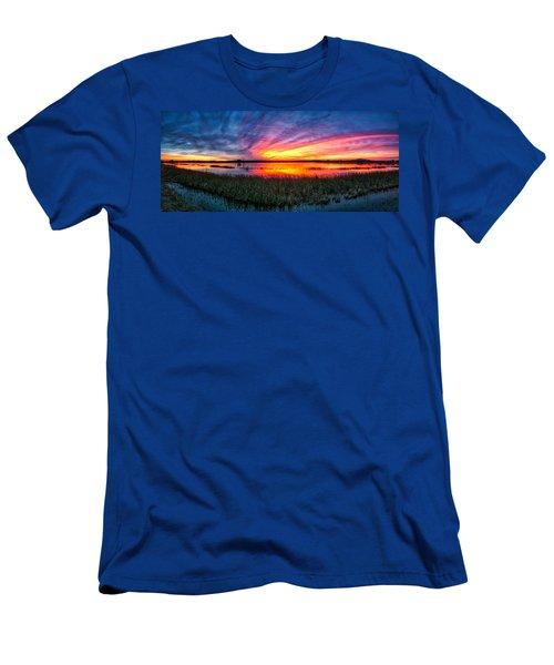 Bosque Sunrise Men's T-Shirt (Slim Fit) by Kristal Kraft